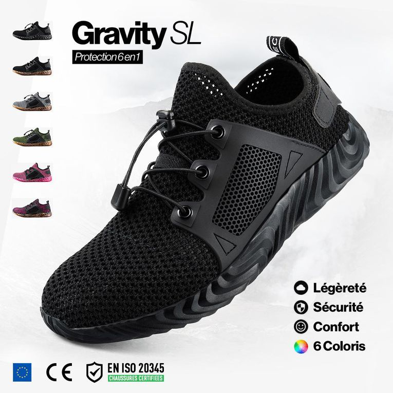 Innovation produit : chaussures de sécurité Gravity SL