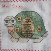 Plaid Tortues brodées : Tortue Maneki - Chez Mamigoz