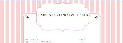 Pink for October OverBlog Template