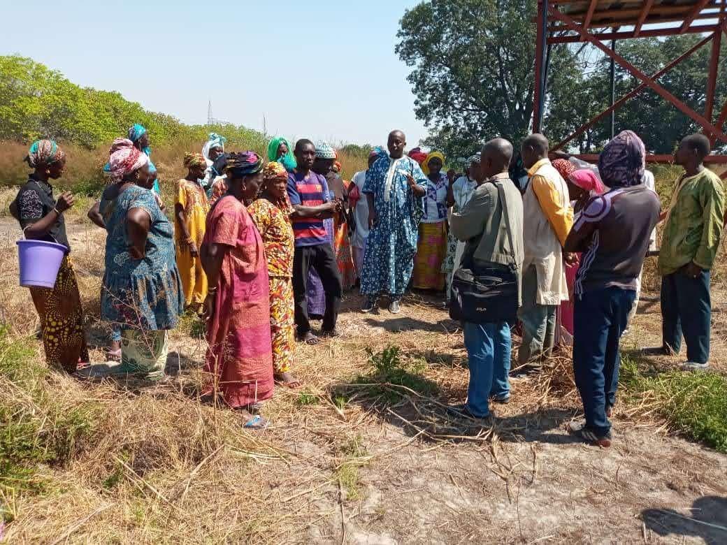 La délégation en visite dans les carrés maraichers de Boussoura