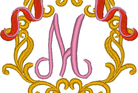 Cadre baroque la lettre M