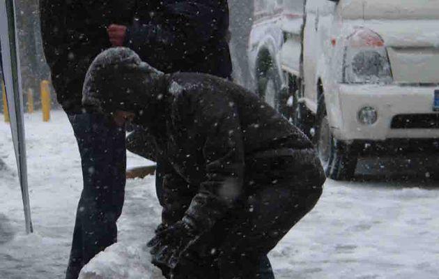 Tempête de neige au programme du jour à Istanbul