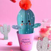 DIY cactus en papier pour la Saint Valentin | Madame Citron - Blog de créations et DIY