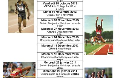 CALENDRIER ATHLETISME HIVERNAL 2013/2014