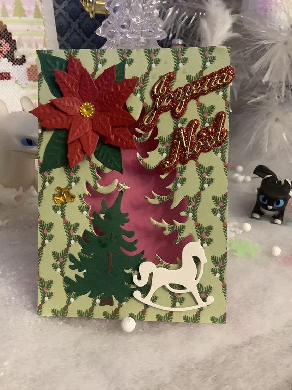 Carte de vœux: une jolie carte joyeux Noël