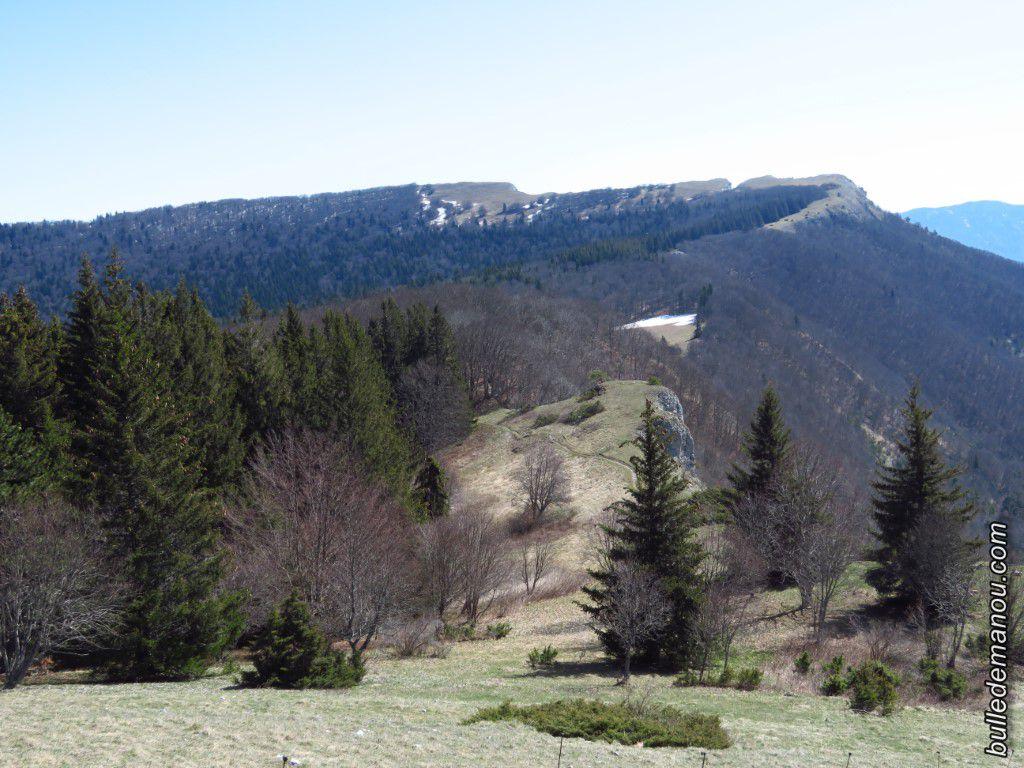 Vue sur le col de Vassieux et le plateau