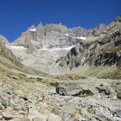 Face sud directe de la Meije - Voie Allain-Leininger (TD; 800m)