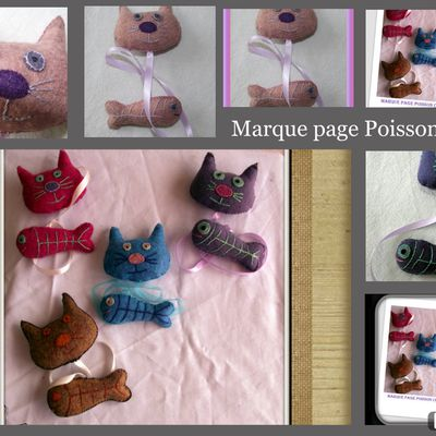 marque page Poisson Chat