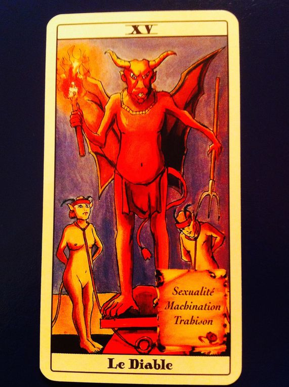 TAROT INITIATIQUE ARCANE - XVI- LE DIABLE-Ayînn.