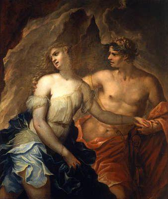 Peinture - Orpheus et Eurydice par le peintre allemand Christian Gotlieb Kratzenstein-Stub - 1783–1816-