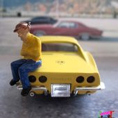 FASCICULE N°37 CHEVROLET CORVETTE 1968 SOLIDO 1/43 - car-collector