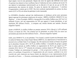 Synerpa: 3 centimes d'augmentation de la valeur du point...La CFDT signe...FO et CGT ne signent pas!
