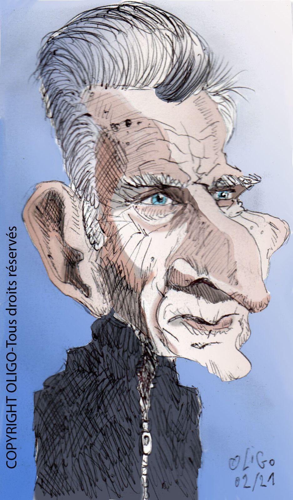 Caricature de Samuel Beckett :