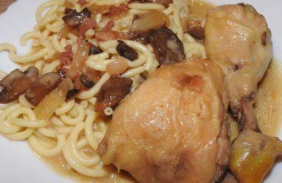 Poulet ou Coq, sauce forestière au Cookeo ou pas