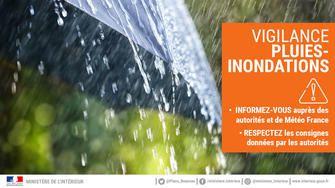 Alerte orange Yvelines : pluies/inondations