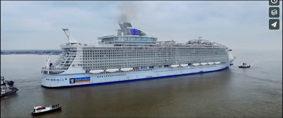 RCCI Royal Caribbean International : 'Harmony Of the seas' leaving to Southampton