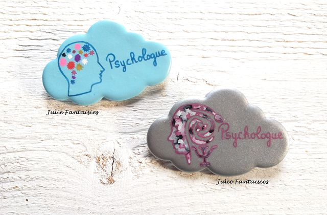 2 Badges pour psychologue