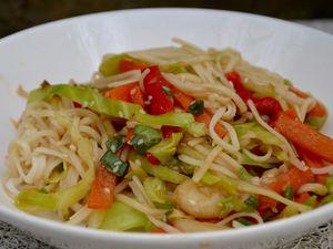 Nouilles asiatiques aux légumes