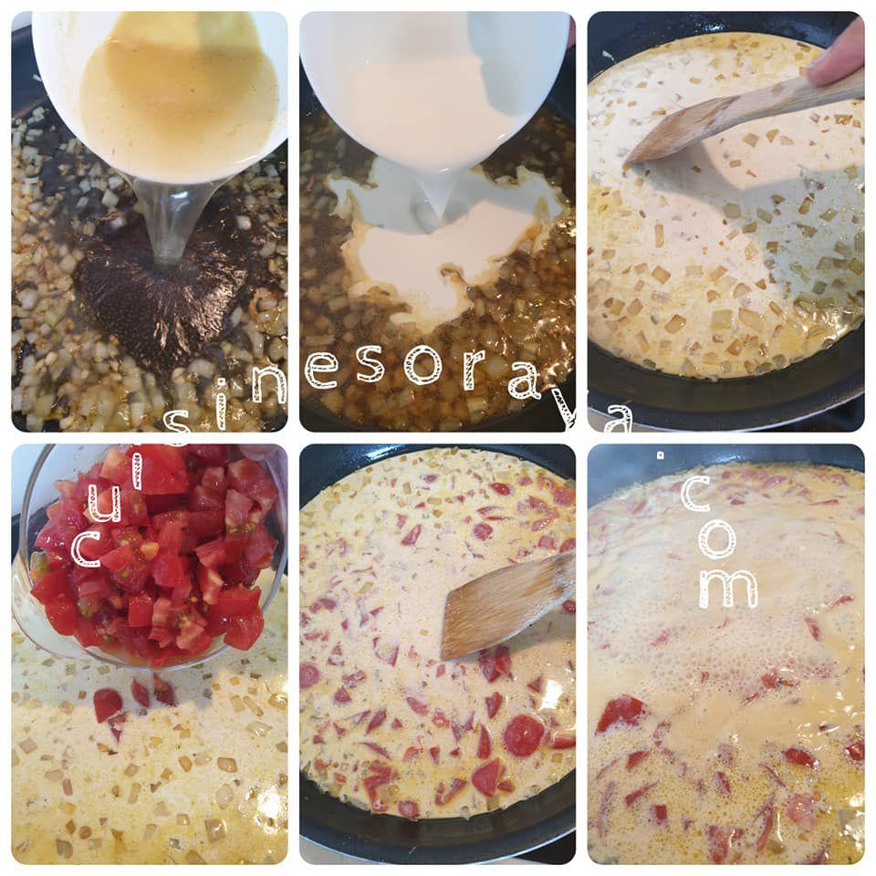 Escalope de poulet à la crème de tomate