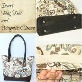 Let's make it lovely: Adding Hard Base, Bag feet and Magnetic Closure to a Bag