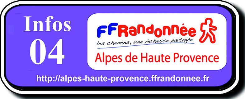 FEDERATION FRANCAISE de la RANDONNEE PEDESTRE 04 (c) - Alpes de Haute Provence - Région SUD-PACA