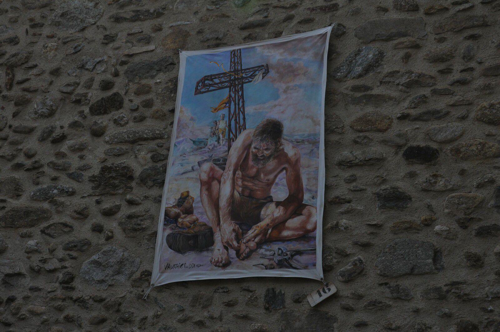 """Eglise Saint-Felix toile 16 """"La Saint Ampoule"""" de Alain Vauthier"""