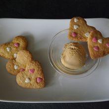 Les petits biscuits coeurs pour mon amoureux