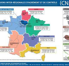 La carte de france des CIAC (CNAPS)
