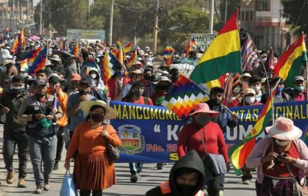 BOLIVIE : MANIFESTATIONS IGNOREES DES MEDIAS !
