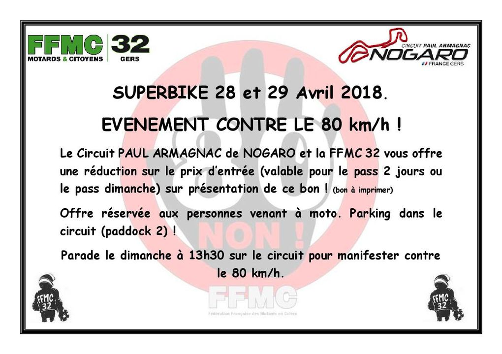 Invitation au courses de Superbike