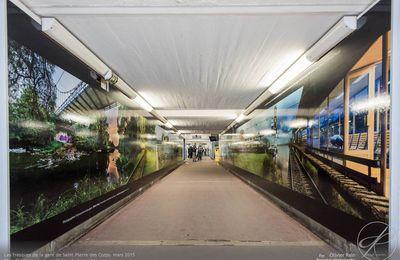 Arrivée des fresques dans la gare SNCF de Saint Pierre des Corps