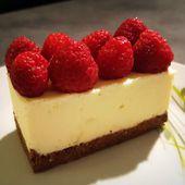 Cheesecake chocolat blanc et framboises - Elodie cuisine pour vous partager sa passion...