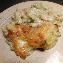 Gratin de brocolis saumon béchamel