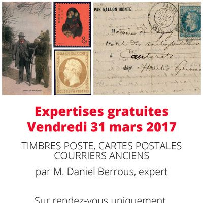 Journée estimations timbres 31 mars 2017