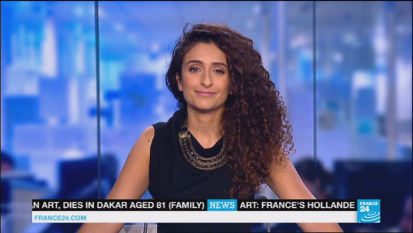 📸 SANAM SHANTYAEI @SanamF24 this night for THE NEWS @France24_en #vuesalatele
