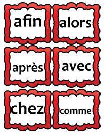Flashcards lecture de mots outils CP