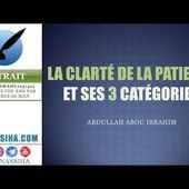 La clarté de la patience et ses catégories - Salafidunord