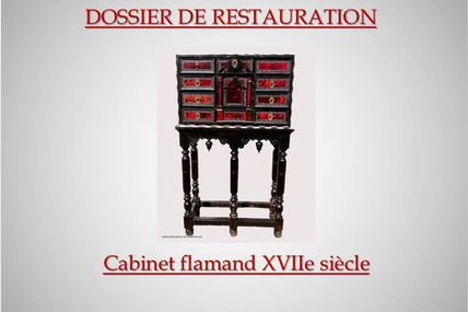 Restauration : Cabinet flamand XVIIe