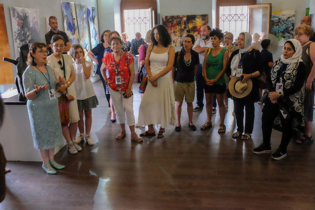 Quelques photos du vernissage par l'artiste Barbara Crimella, Crédit photo : Copyright CYAN/Daniel CANY Droits des personnes photographiées réservés, pour la Biennale de Sarria