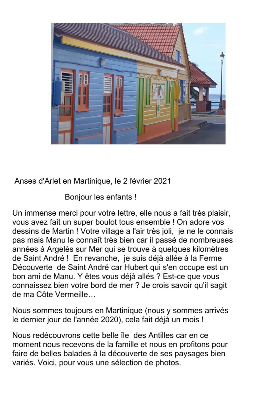 Une petite visite de la Martinique pour les CP de Saint André dans les Pyrénées Orientales
