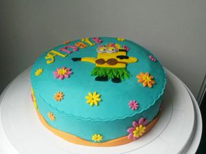 Gâteau Minion Fille Vahiné