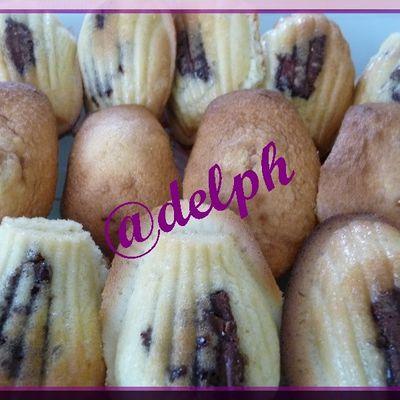 Madeleines coeur Nutella.