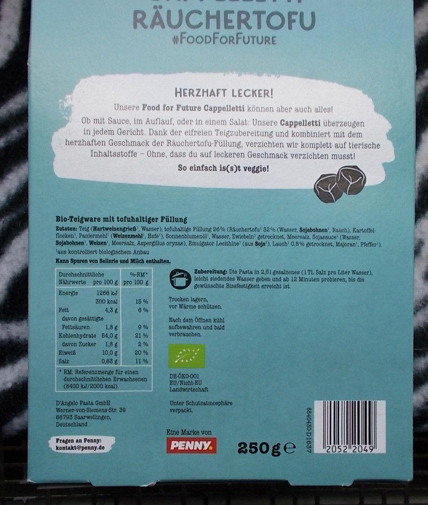 Penny Food for Future Cappelletti Räuchertofu