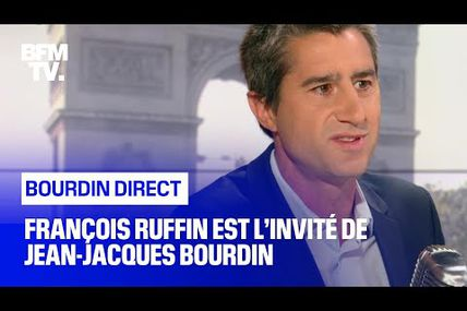 François Ruffin face à Jean-Jacques Bourdin en direct