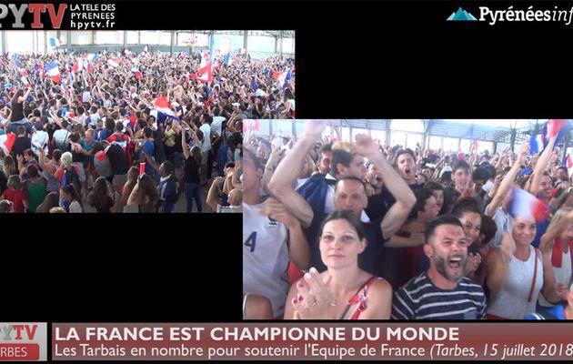 Tarbes fête ses Champions du Monde (15 juillet 18) | HPyTv La Télé de Tarbes
