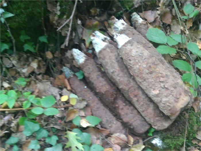 Une photographie d'un des obus retrouvé le week-end dernier. (©Gendarmerie Nationale, compagnie de Domfront en poiraie.)