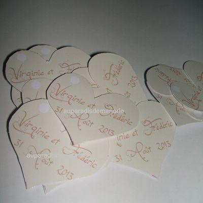 étiquette coeur beige