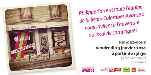 COLOMBES AVANCE : INAUGURATION DU LOCAL DE CAMPAGNE