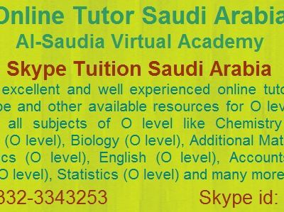 Skype Tuition for O level