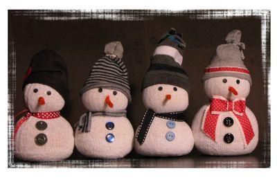 Bonhomme de neige.... en chaussette